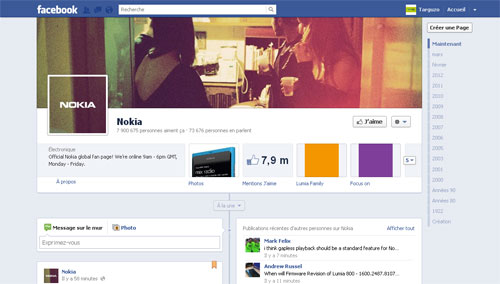 Facebook Page Timeline
